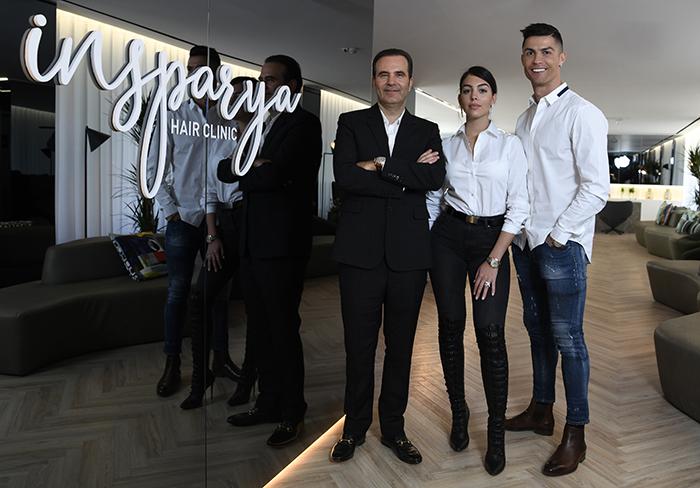 Cristiano Ronaldo Launches Hair Transplant Clinic Insparya With Girlfriend Georgina Rodriguez Rhapsody Magazine